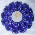 Flatiron Blue Clock By UNME