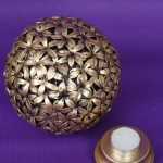 Hundred Flowers, Antique Metal Globe Tea Light Holder, by Rituals