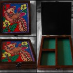 Wooden Hand Painted Jewellery Box. Rs.1125.